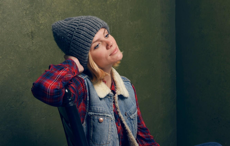 Photo wallpaper model, hat, actress, Brooklyn Decker