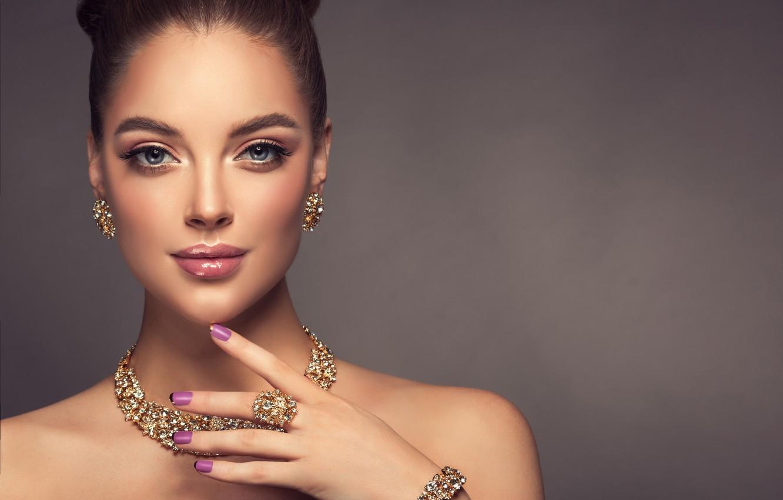 Wallpaper look, girl, model, hand, makeup, hairstyle ...