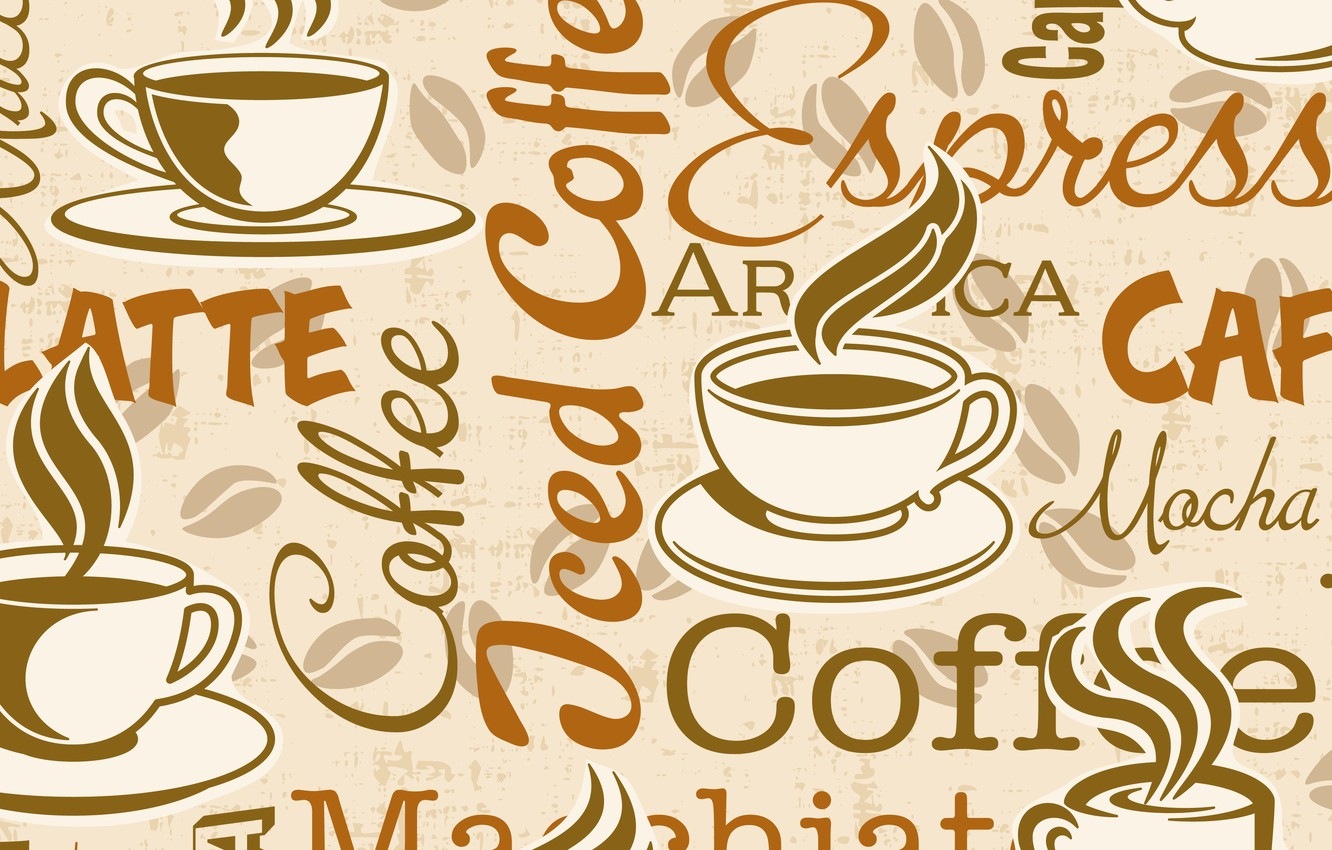 Photo wallpaper Coffee, Background, Cup, Texture