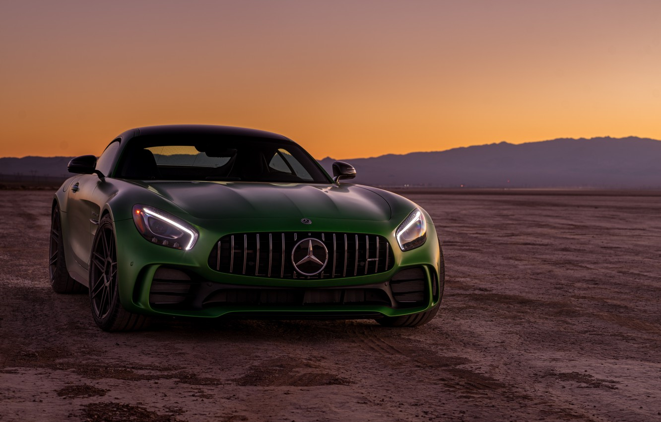 Photo wallpaper green, style, the front, Mercedes GTR