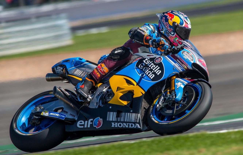 Photo wallpaper speed, motorcycle, Honda, MotoGP, Motorsport, racing, British Grand Prix Silverstone 2017, Jack Miller