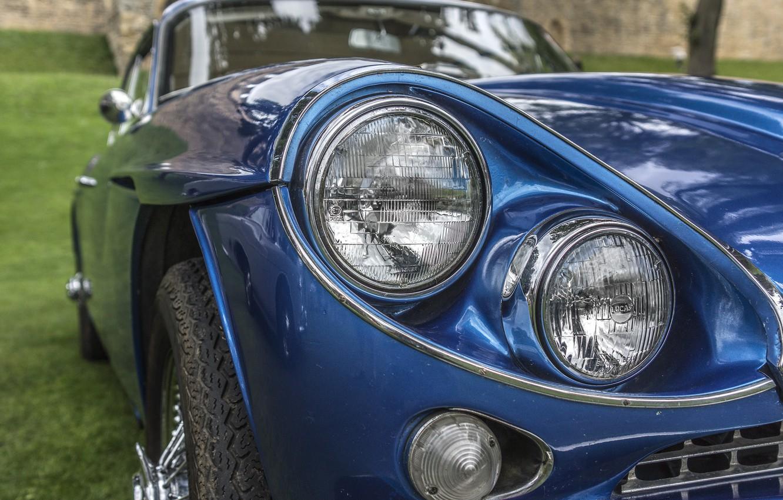 Photo wallpaper retro, lights, classic, Gran Turismo, Jensen C-V8 MKII, Jensen C-V8