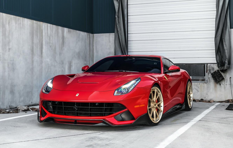 Photo wallpaper Ferrari, F12, Wheels, ANRKY