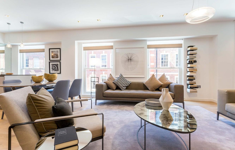 Wallpaper Interior Living Room Modern Apartment In London