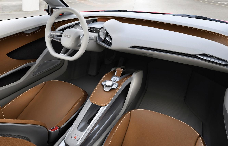 Photo wallpaper Audi, the wheel, seat, salon, e-tron