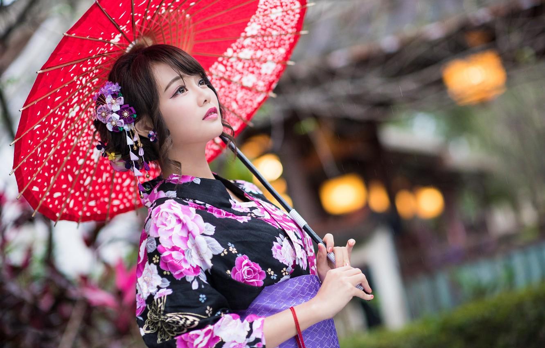 красивые японки с зонтами картинки исследования