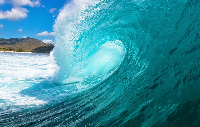 Photo wallpaper sea, water, squirt, the ocean, wave, sea, ocean, blue, seascape, wave