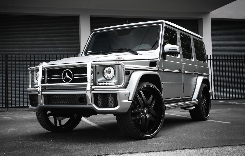 Photo wallpaper Mercedes, wheels, AMG, G63, Forgiato