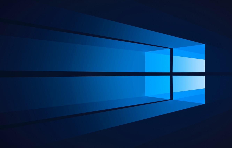 Photo wallpaper computer, minimalism, window, windows, operating system