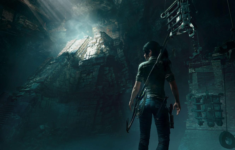 Photo wallpaper Tomb Raider, Lara Croft, tomb, Shadow of the Tomb Raider, the light of the sun