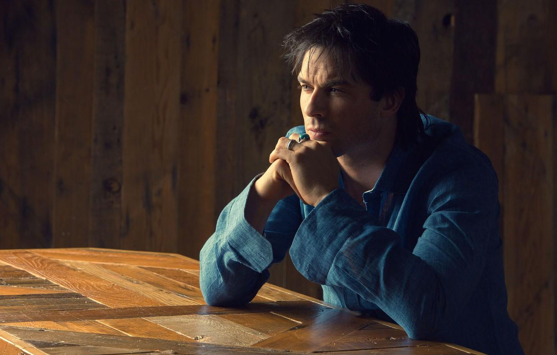 Photo wallpaper look, ring, actor, profile, shirt, Ian Somerhalder, Ian Somerhalder
