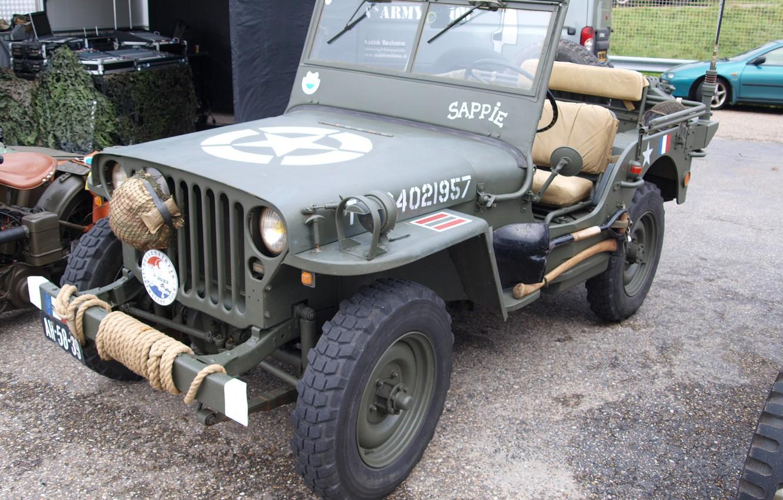 Photo wallpaper car, star, army, Jeep