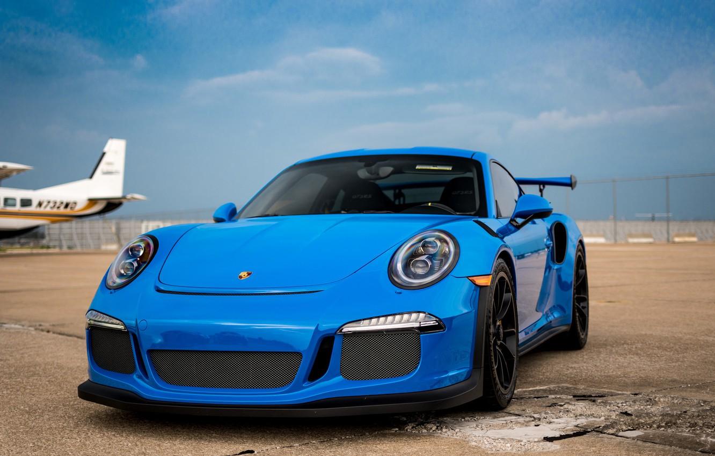 Photo wallpaper 911, Porsche, Blue, GT3RS