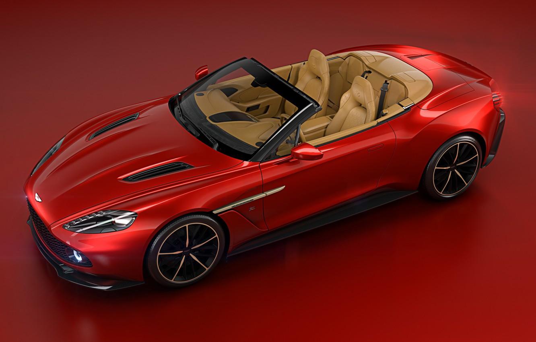 Photo wallpaper machine, background, Aston Martin, red