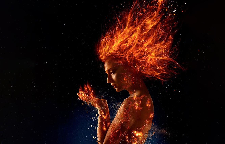 Photo wallpaper Dark, Action, Olivia Munn, Mystic, X-Men, Storm, year, 2018, James McAvoy, Magneto, Michael Fassbender, Professor, ...