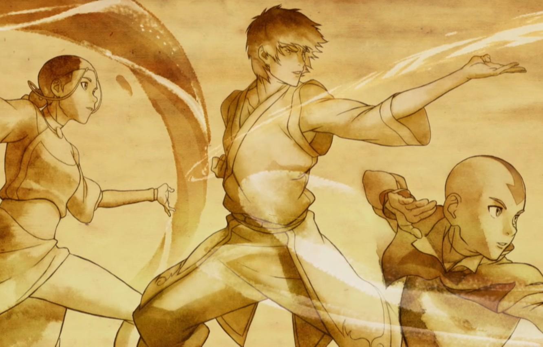 Aang Korra wallpaper avatar, katara, zuko, nickelodeon, aang, tv series