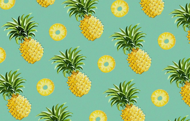 Photo wallpaper food, vector, pineapple, the fruit