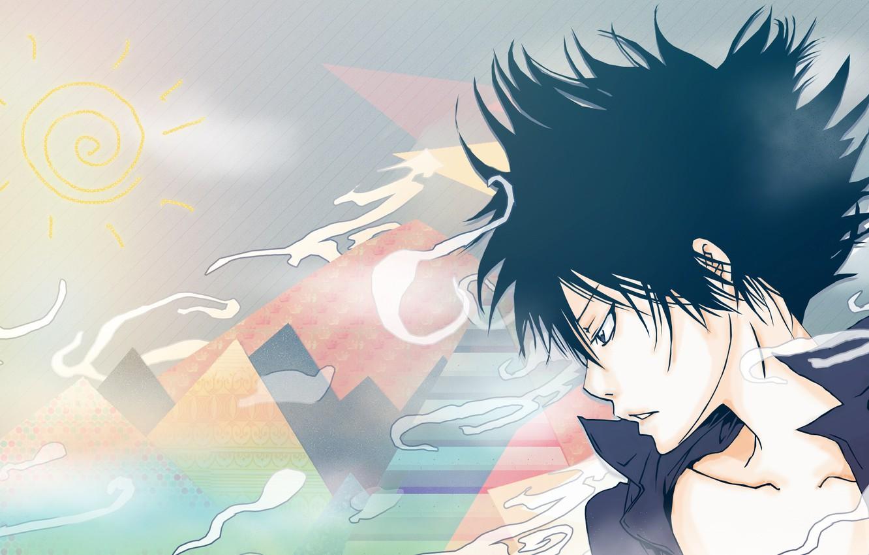Photo wallpaper anime, art, guy, Katekyo Hitman REBORN!, Hibari Kyoya