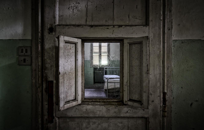 Photo wallpaper the door, window, chamber