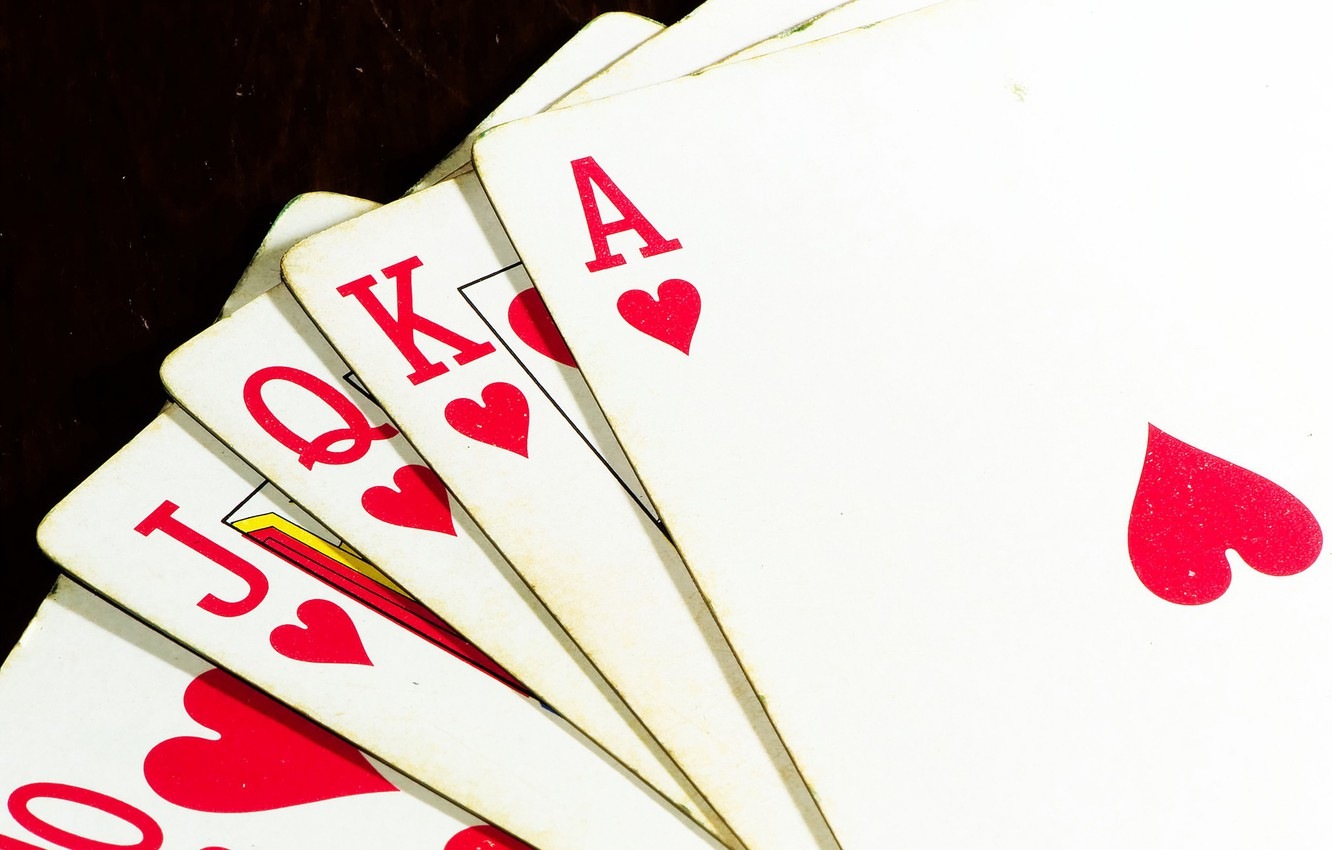 Wallpaper Royal Flush Poker Playing Cards Images For