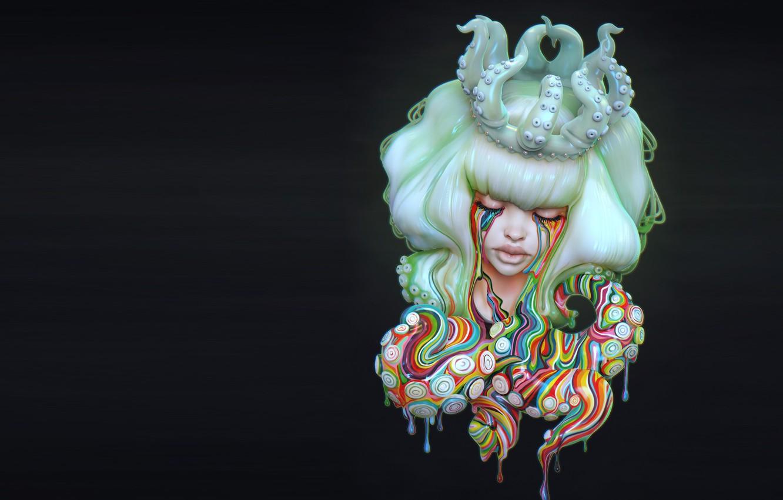 Photo wallpaper paint, fantasy, art, octopus, Karen McCarthy, Camilla d'Errico's Rainbow Child
