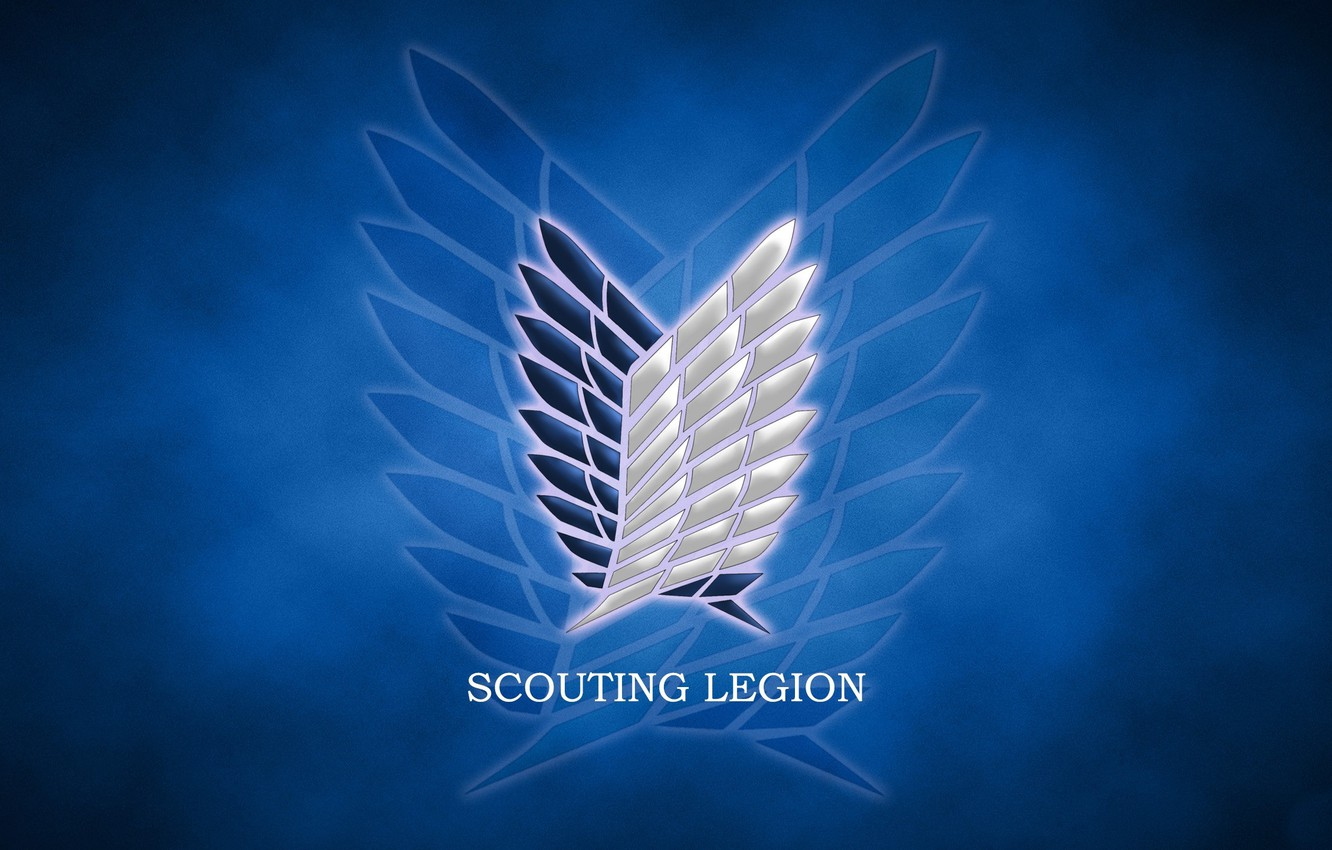 Wallpaper Wallpaper Logo Game Anime Wings Asian Manga Japanese Oriental Asiatic Attack On Titan Shingeki No Kyojin Coat Of Arms The Survey Corps By Rasenjou Scouting Legion Images For Desktop Section Syonen