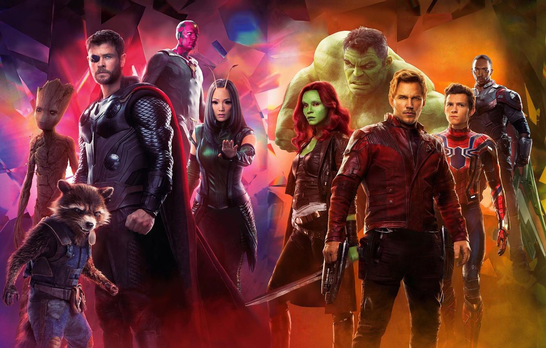 Photo wallpaper Falcon, Sword, Heroes, Wings, Actor, Weapons, Actress, Movie, Rocket, Vision, Bradley Cooper, Heroes, Cloak, Hulk, …