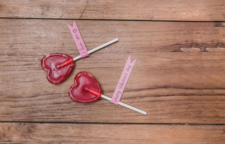 Photo wallpaper hearts, lollipops, love, romantic, hearts, sweet