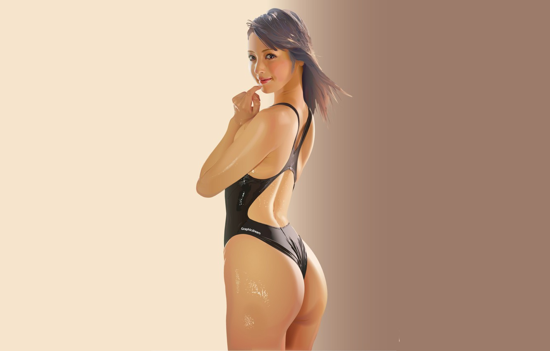 Photo wallpaper swimsuit, girl, background