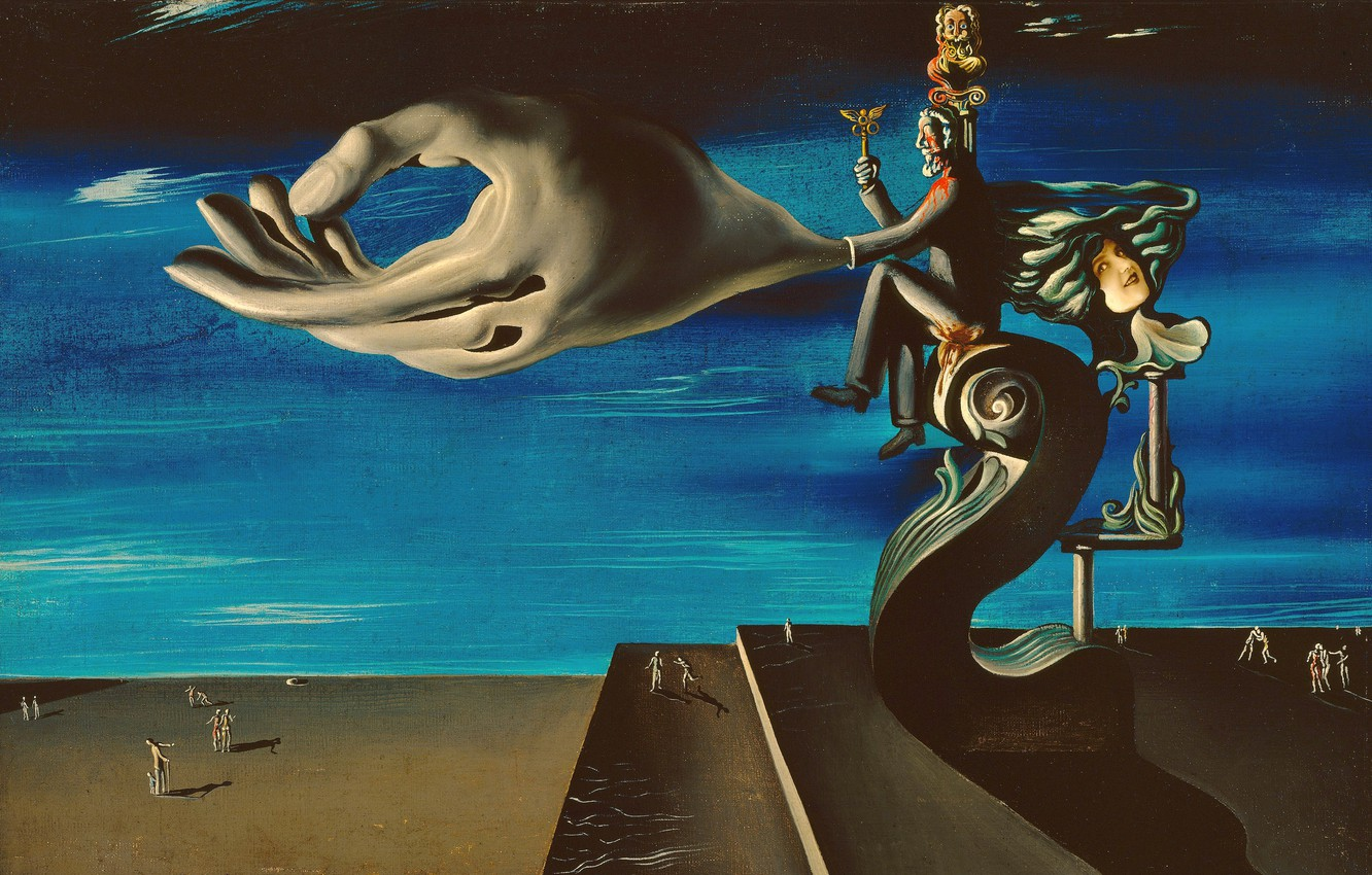 Photo wallpaper surrealism, picture, Hand, Salvador Dali, Salvador Dali, Remorse