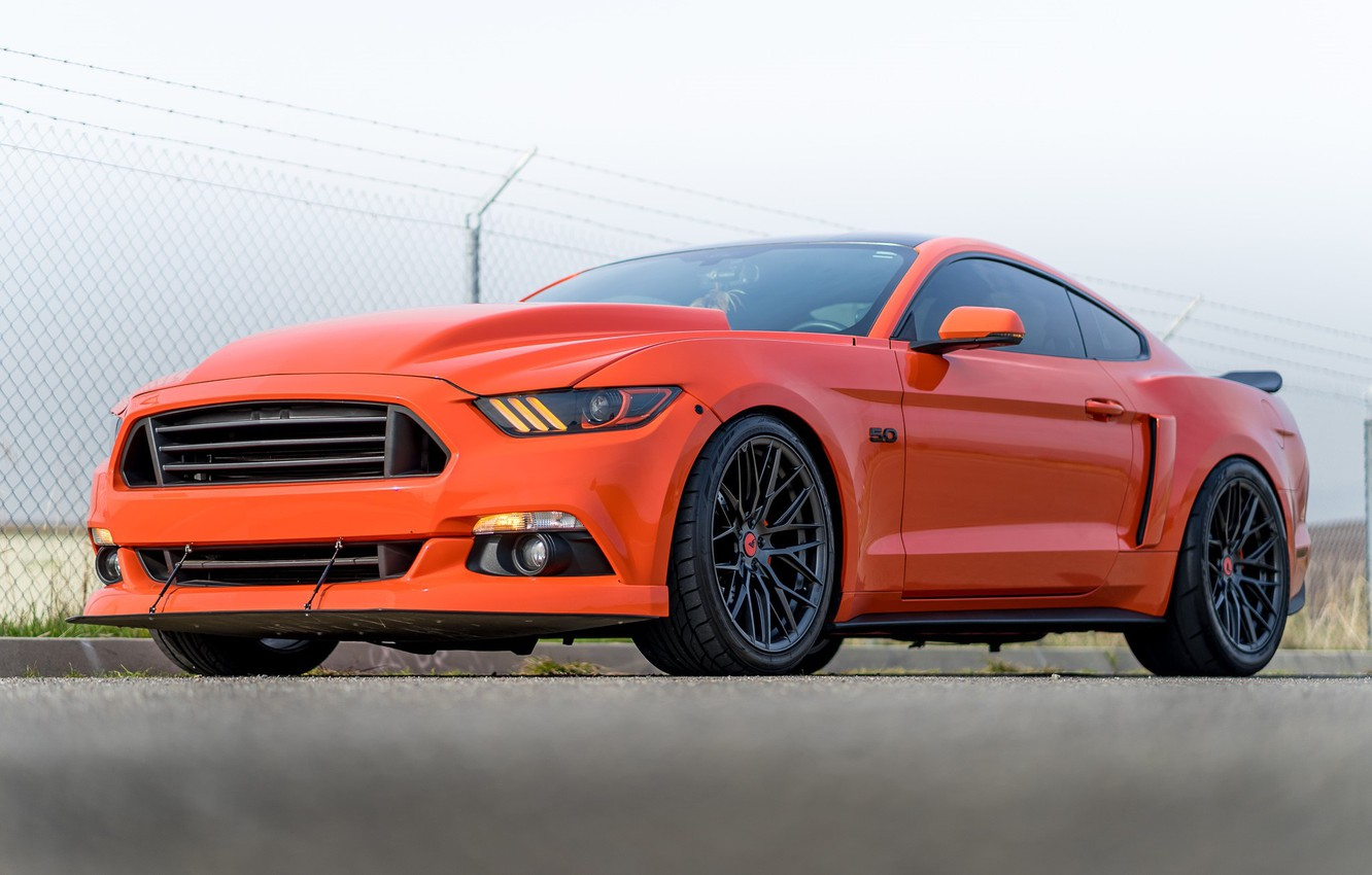 Photo wallpaper Mustang, Ford, Carbon, 107, Graphite, V-FF