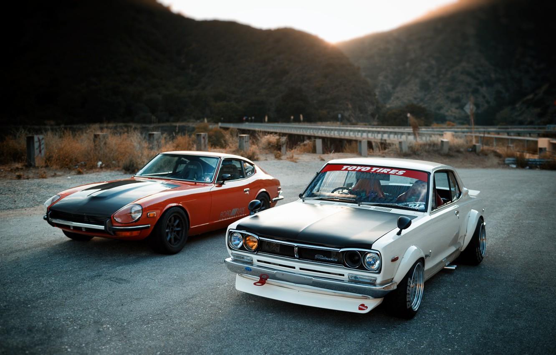 Photo wallpaper Auto, Machine, Nissan, Nissan, Lights, Car, 2000, Datsun, Skyline, Nissan Skyline, The front, 2000GT, Japanese, …