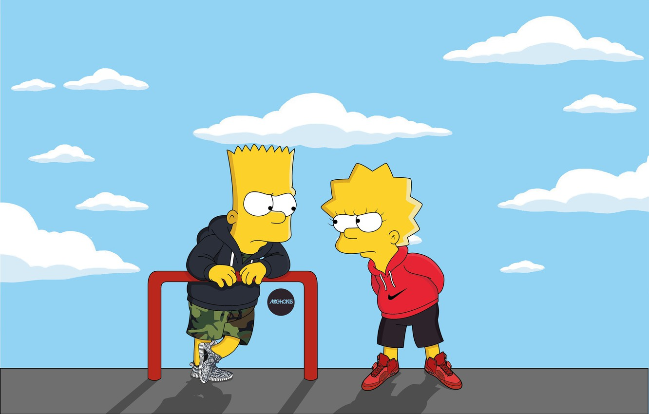 Wallpaper The Simpsons Figure Adidas Simpsons Bart Art Adidas