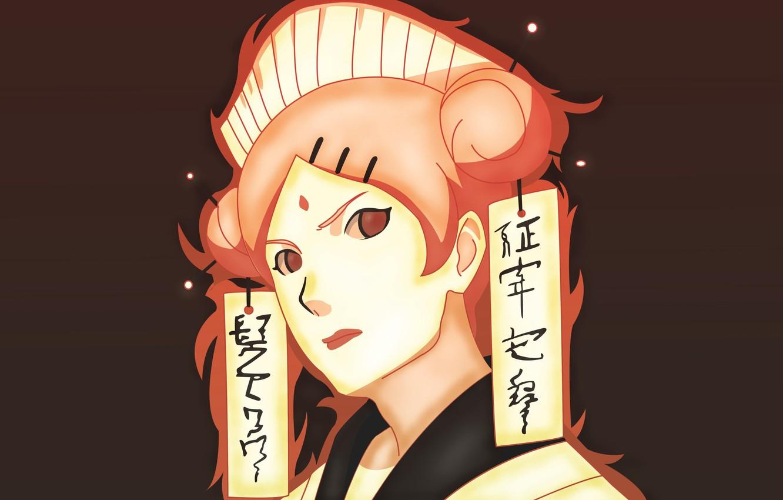 Photo wallpaper red, girl, game, Naruto, seal, red hair, woman, anime, redhead, ninja, asian, manga, shinobi, japanese, …