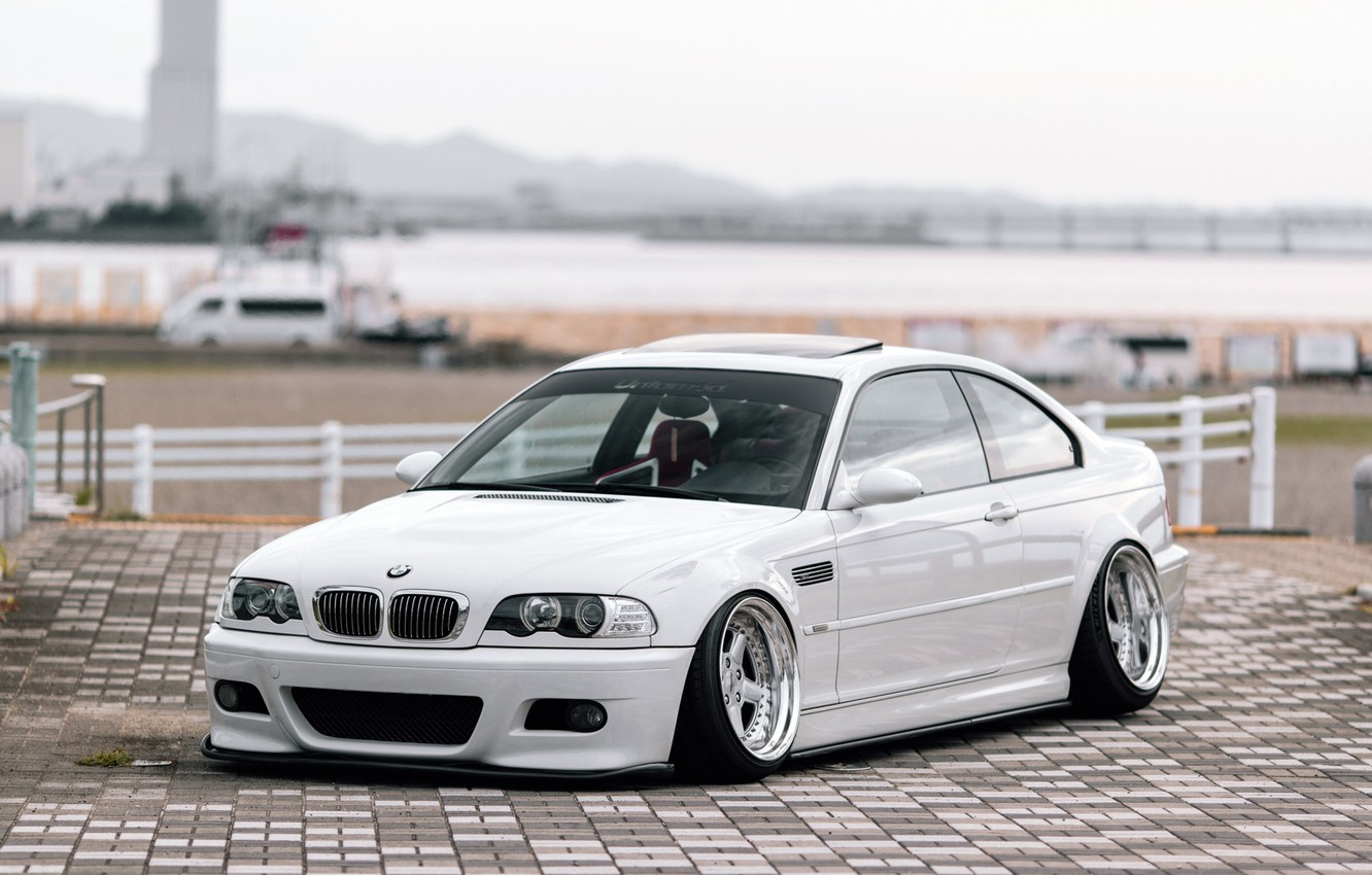 Wallpaper Auto White Bmw Machine Bmw The Hood Tile Car E46
