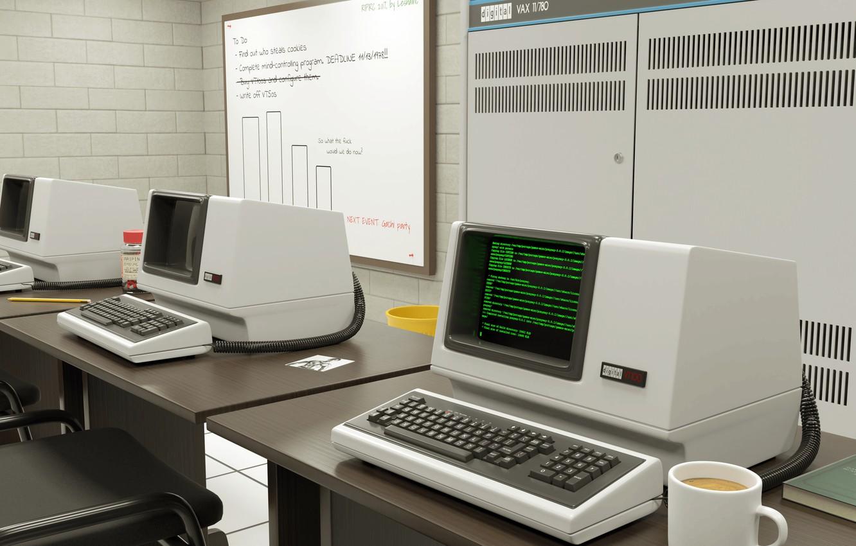 Photo wallpaper computer, techno, computer
