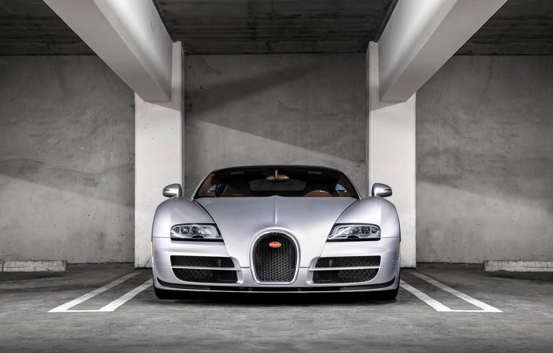 Photo wallpaper Bugatti, Veyron, Front, View