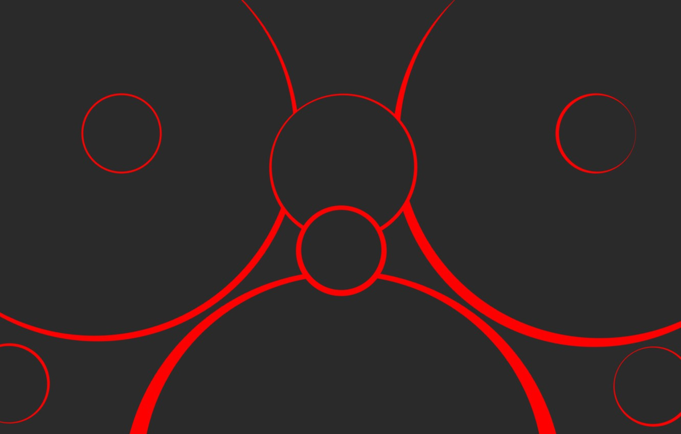 abstract circles neutral red