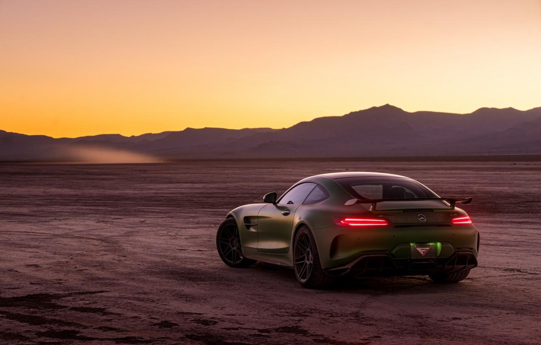 Photo wallpaper green, style, the evening, Mercedes GTR