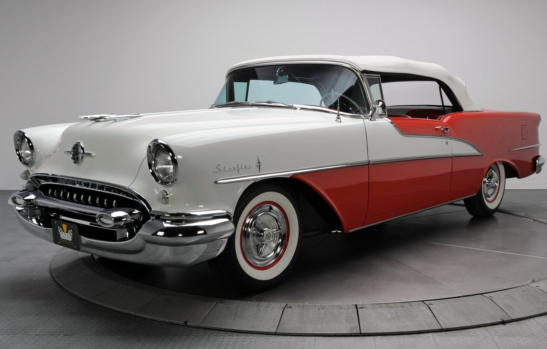 Photo wallpaper Retro, Convertible, 1955, Oldsmobile, Luxury, Starfire