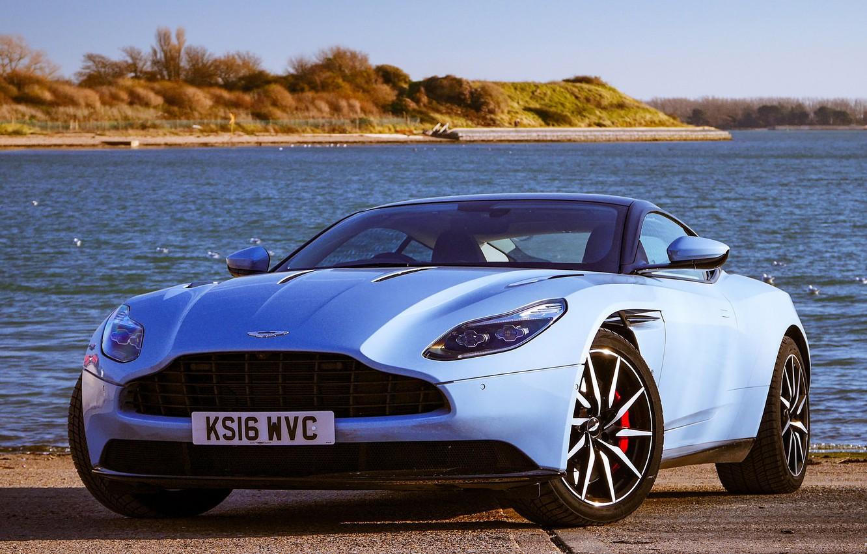 Photo wallpaper Aston martin, Blue, DB11