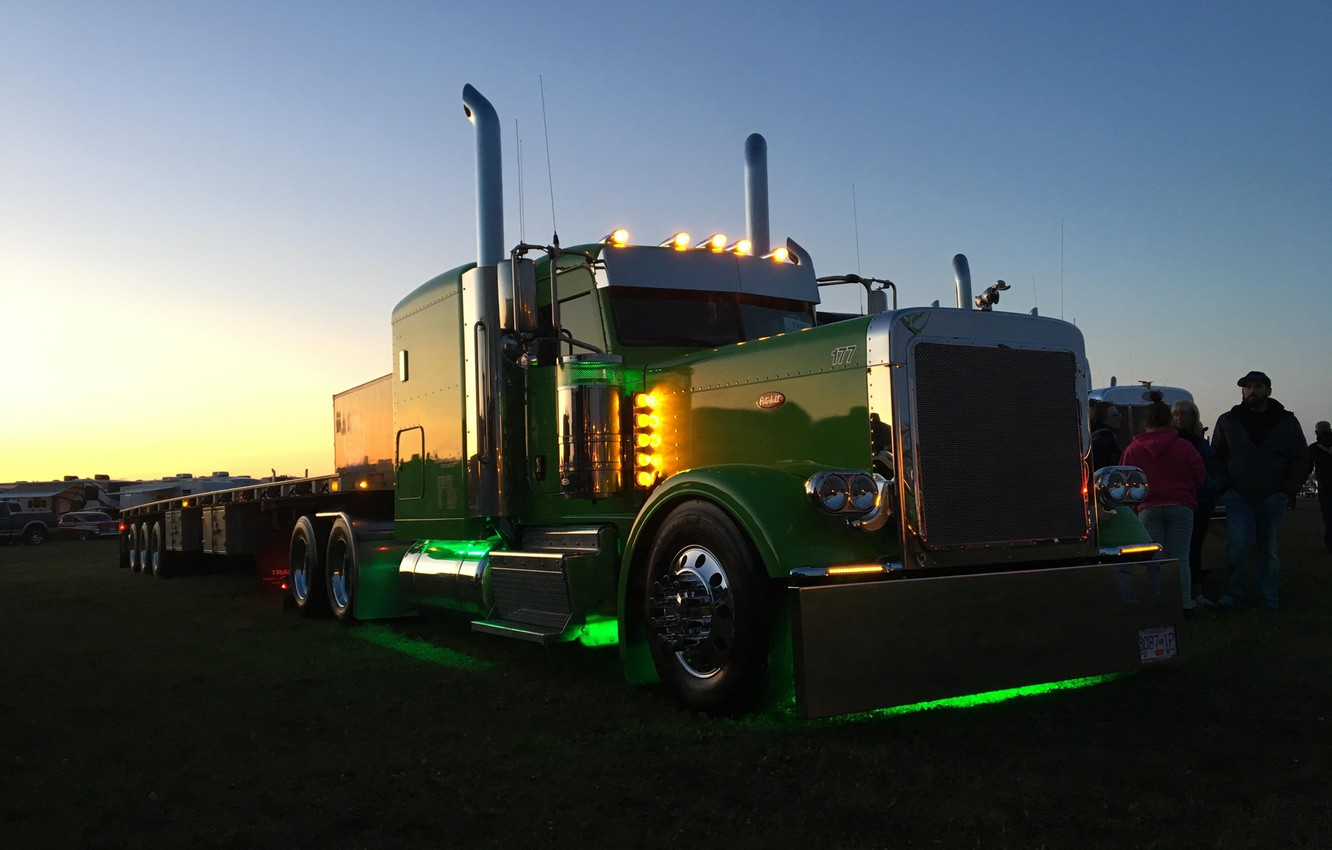 Photo wallpaper truck, tractor, peterbilt 379, rig