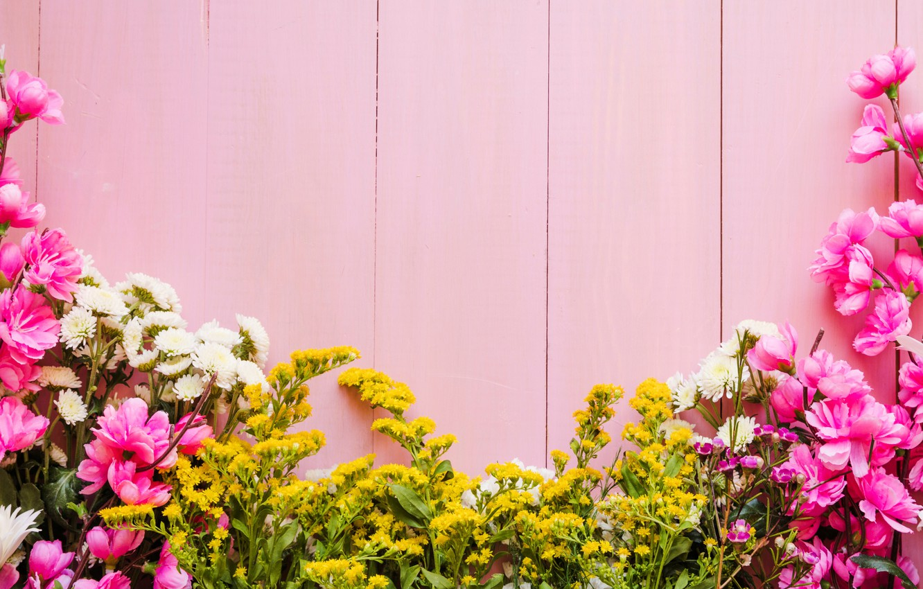 Wallpaper Flowers Background Pink Pink Flowers Background