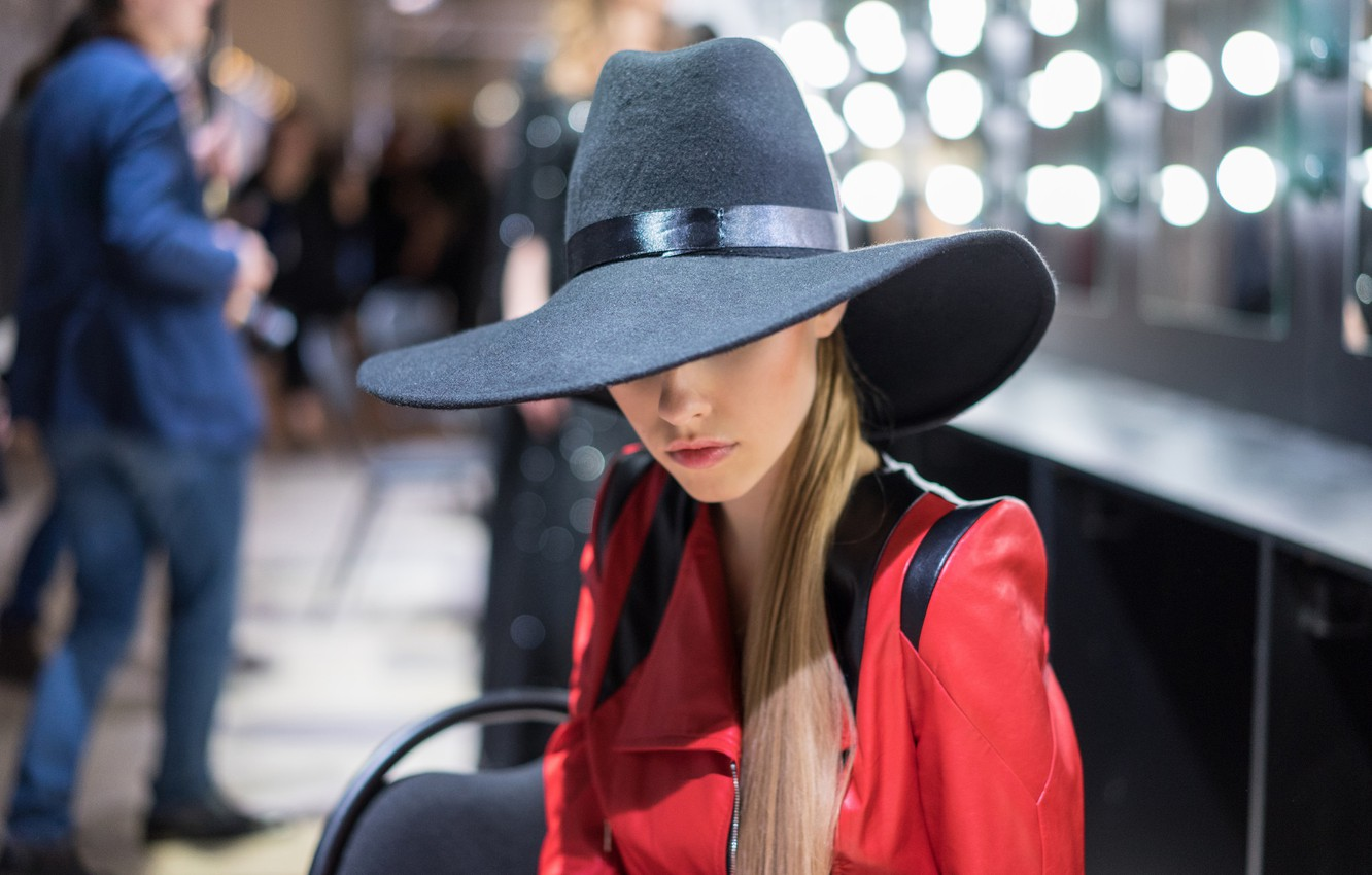Photo wallpaper face, style, hair, hat