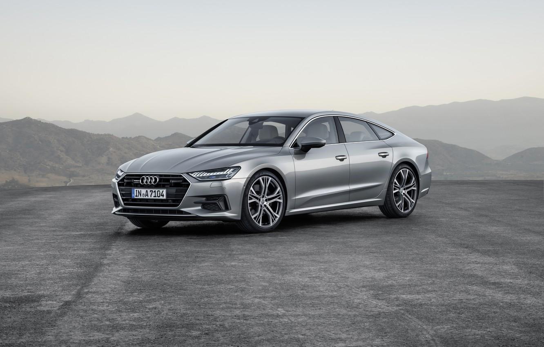 Photo wallpaper Audi, German, 2018, Silver, Premium, A7