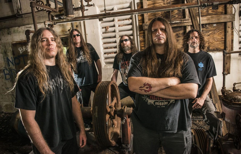 Photo wallpaper Death Metal, Cannibal Corpse, George Fisher, Alex Webster, Pat O'Brien, Paul Mazurkiewicz, Rob Barrett