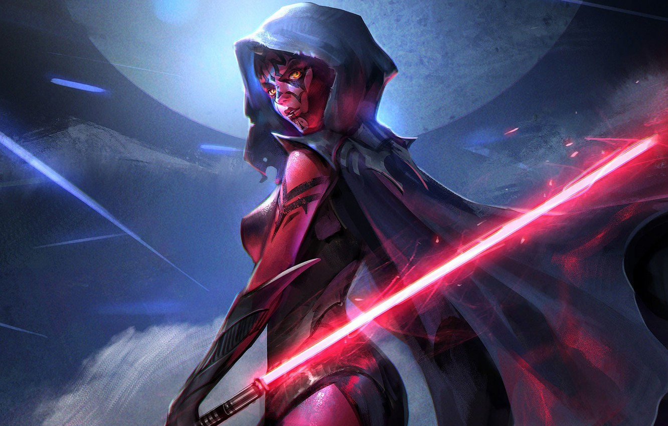 Wallpaper Star Wars Starwars Jeremy Chong Lady Darth Maul The