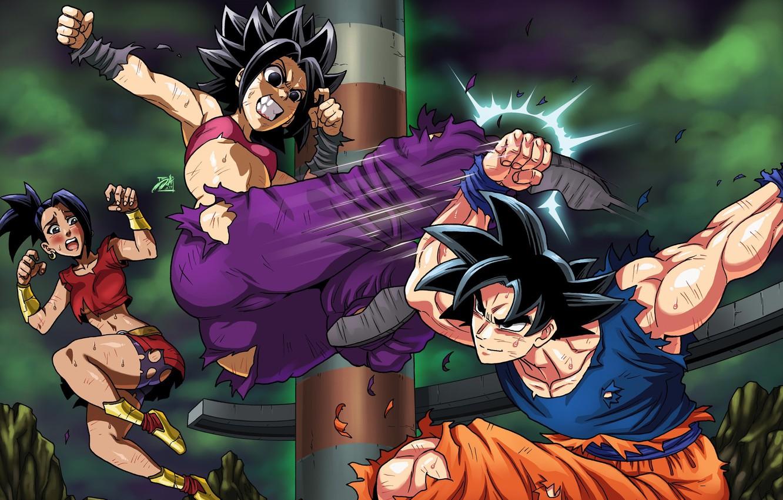 Wallpaper Anime Son Goku Dragon Ball Super Caulifla Dbs