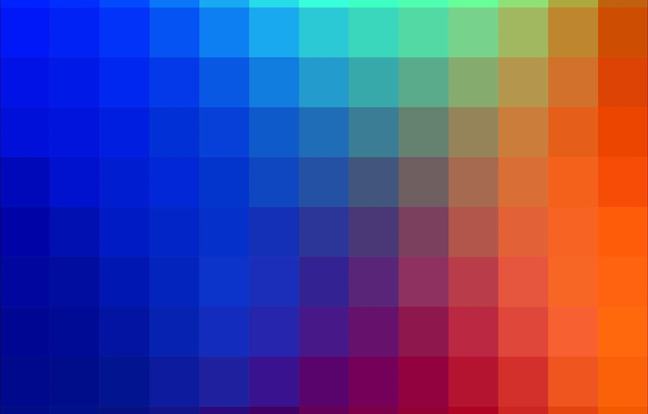 Photo wallpaper bright, squares, different colors
