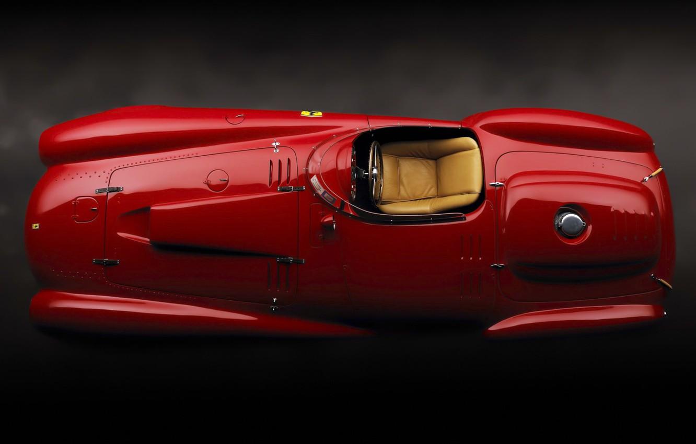 Photo wallpaper Ferrari, red, 1954, retro, race, 375